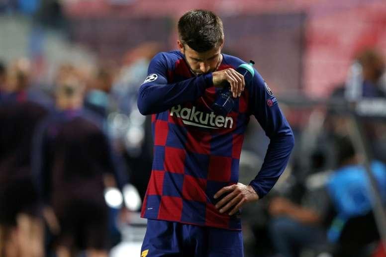 El central español habló alto y claro sobre la actualidad del Barça. AFP