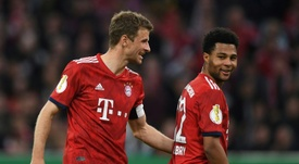 Gnabry prend la défense de Müller. AFP