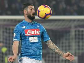 Elseid Hysaj is a target for Atletico Madrid. AFP