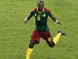 L'attaquant camerounais Vincent Aboubakar, buteur décisif pour les Lions en finale de la CAN. AFP