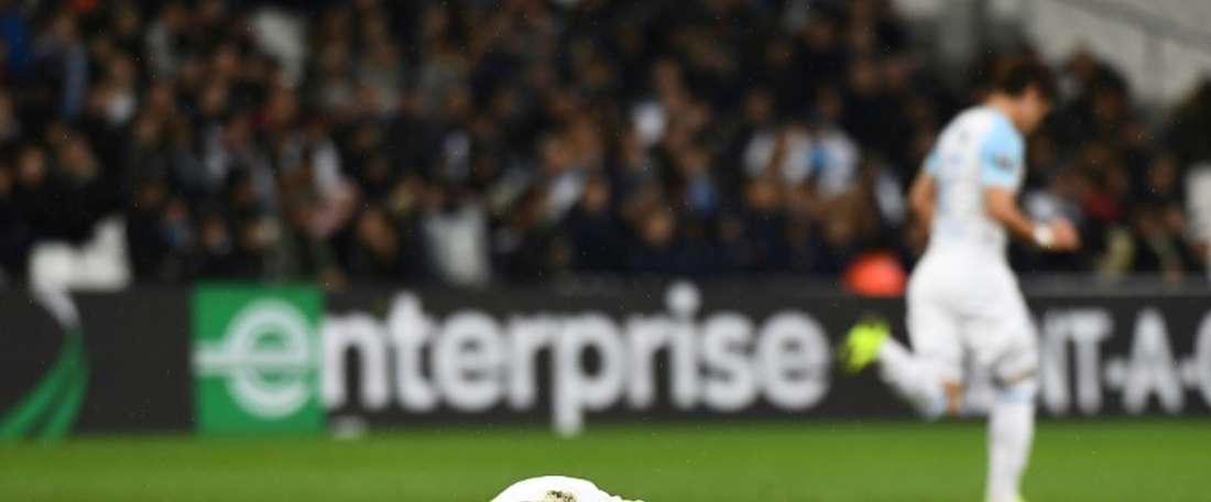 El Olympique de Marsella cayó por 1-3 en casa. AFP