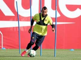 Vidal est en lice pour son 9e championnat. AFP