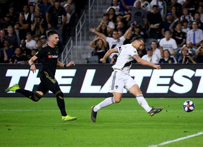 Zlatan pode abandonar o LA Galaxy. AFP