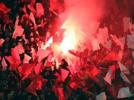 La afición del Niza, harta de su equipo. AFP