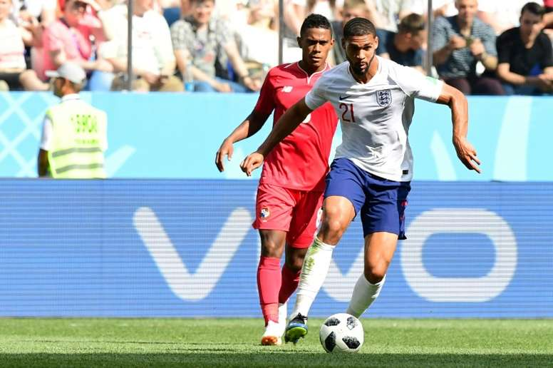 Loftus-Cheek pictured in World Cup action against Panama. AFP