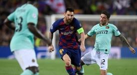 L'Inter a tenté de recruter Messi. AFP