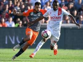 Les compos officielles du match de Ligue 1 entre Montpellier et Guingamp. AFP