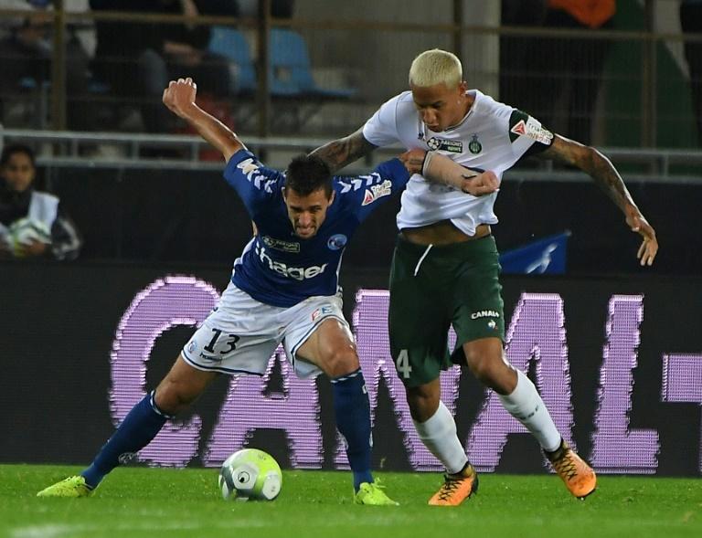 Sans Martin Terrier, avec Jean-Eudes Aholou contre Saint-Etienne — Strasbourg