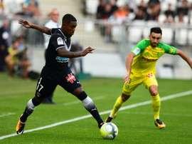 L'attaquant de Bordeaux Malcom (g) buteur face à Nantes au Matmut Atlantique. AFP