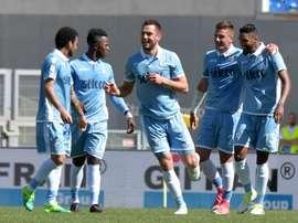 La Lazio ha echado el ojo a Diego Falcinelli. AFP