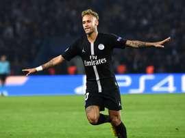 Neymar a réalisé un grand match. AFP
