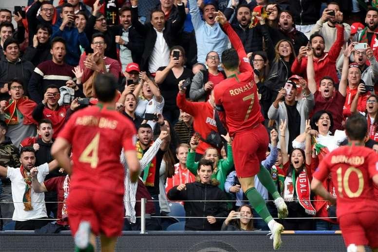 Cristiano ha marcado a 150 equipos entre clubes y selecciones. AFP