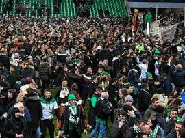 Finale Saint-Etienne-PSG: boycott des supporteurs stéphanois. AFP