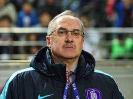 L'Allemand Uli Stielike, alors sélectionneur de la Corée du Sud. AFP