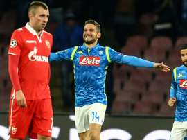 Dries Mertens vient de marquer contre l'Etoile Rouge de Belgrade. AFP