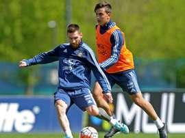 Dybala, siempre con buenas palabras para Messi. AFP