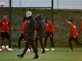 L'entraîneur de Lyon Bruno Genesio. AFP