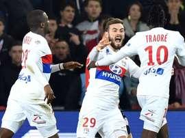 El Lyon defiende su segunda plaza en Lille. AFP