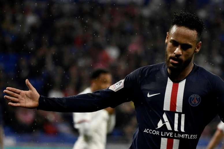 Neymar auteur du but décisif sur le terrain de Lyon. AFP