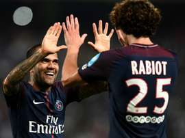 Alves and Rabiot scored for PSG as they beat Monaco 2-1 to win the French Super Cup. AFP
