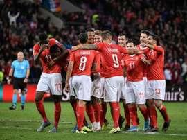 Euro-2020: Danemark, Irlande et Suisse, trois équipes pour deux tickets. AFP
