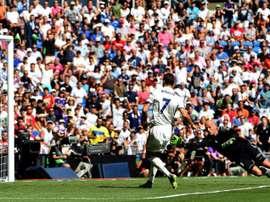 Cristiano Ronaldo inscrit le premier but du Real Madrid contre Osasuna à Santiago Bernabeu, le 10 septembre 2016