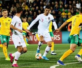 Le Portugal enchaîne avec un quadruplé de Ronaldo. AFP