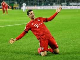 O Bayern quer renovar com Lewandowski. AFP