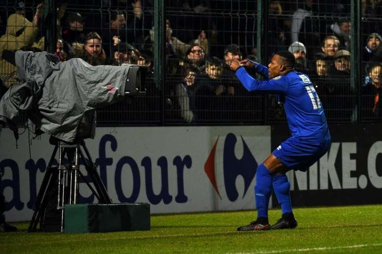 El Chambly dejó fuera al Strasbourg en cuartos. AFP