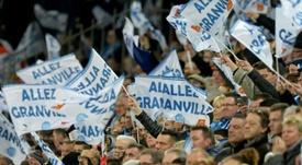Chants hostiles envers Jacques-Henri Eyraud. afp
