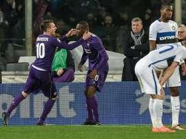 Fiorentina bate o Inter de Milão por 5-4. AFP