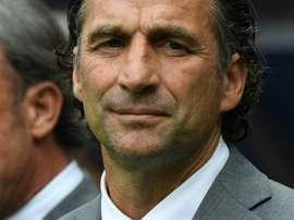 Pizzi celebró la victoria ante Egipto. AFP