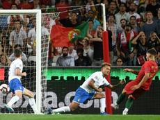 Le Portugais André Silva inscrit le seul but du match de Ligue des nations. AFP