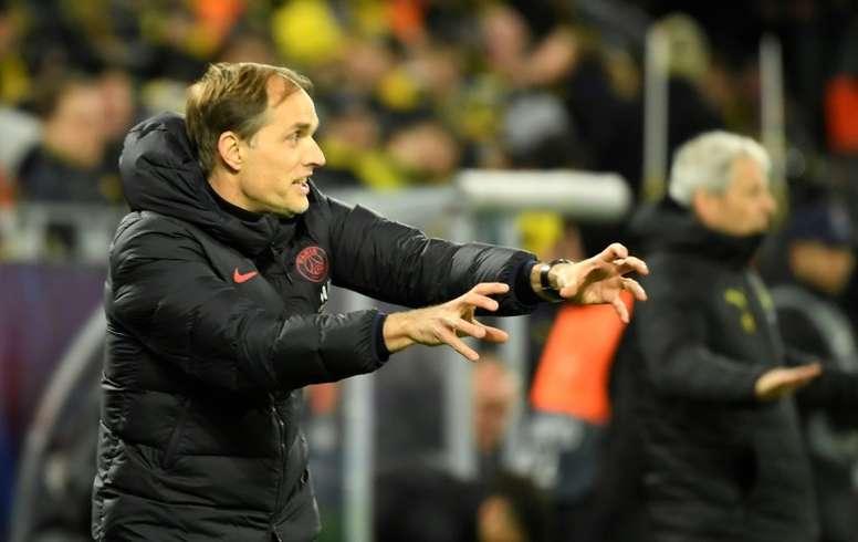 L'entraîneur du Paris SG, Thomas Tuchel, lors du 8e de finale aller de la Ligue des champions à Dortmund, le 18 février 2020