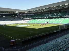 Aucun billet à la vente pour le match Saint-Etienne - Rennes. AFP