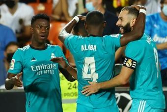 El Real Madrid exhibe su excepcional estado de forma. AFP