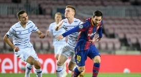 Mykolenko sur l'absence de Messi. AFP