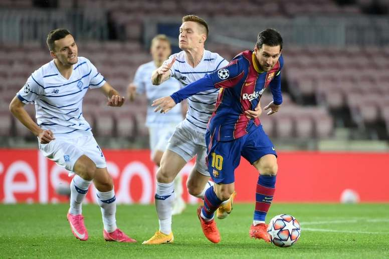 Mykolenko sur l'absence de Messi. AFP