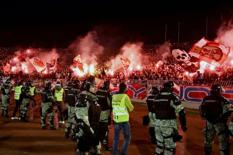 Los partidos entre Partizan y Estrella Roja son algo especial. AFP/Archivo