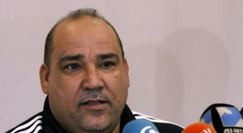 L'entraîneur irakien dAl-Zawraa, Essam Hamad, en conférence de presse. AFP