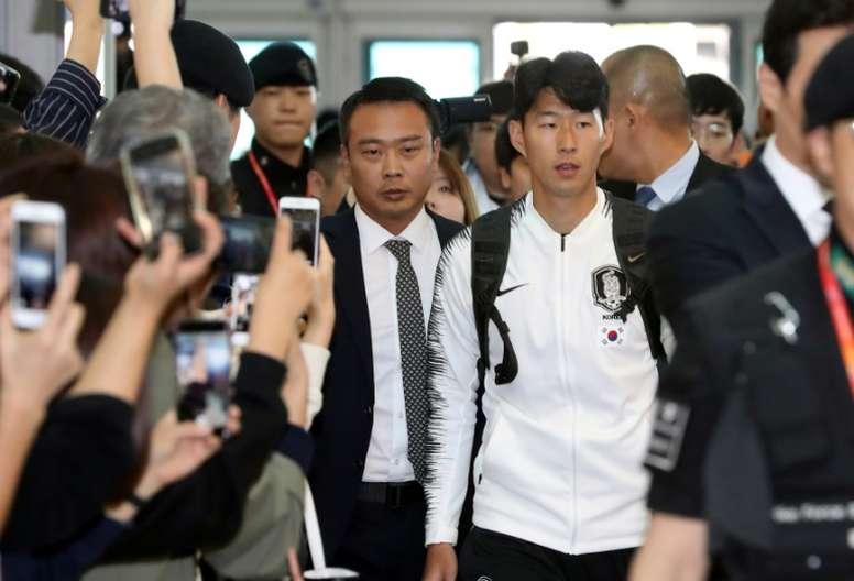 Heung-min Son tendrá que hacer el servicio militar. AFP