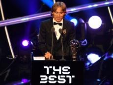 Le Croate Luka Modric joueur FIFA de l'année. AFP