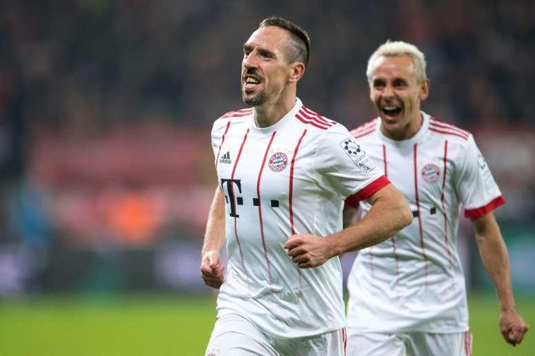 Ribéry aimerait continuer son aventure bavaroise. AFP