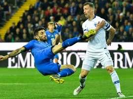 Cristiano Piccini lors du match face à la Finlande en qualifications de l'Euro 2020. AFP