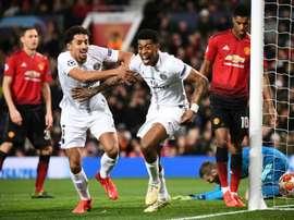 Le groupe du PSG pour affronter Manchester United. afp