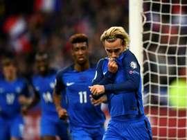 Antoine Griezmann a lancé les Bleus vers la victoire contre le Belarus. AFP