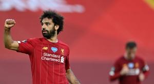Salah não pensa em sair de Anfield. AFP