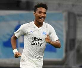 Le nouveau Bouba Kamara, en tournée à Marseille. AFP
