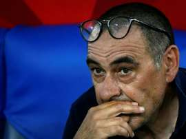 Sarri denies he has fallen out with Pjanic again. AFP