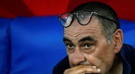 Sarri lamentó la derrota en Milán. AFP